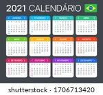 2021 calendar   brazilian... | Shutterstock .eps vector #1706713420