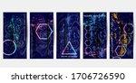 textural blue modern geometric... | Shutterstock .eps vector #1706726590