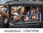 vintage gangsters shooting... | Shutterstock . vector #170673908