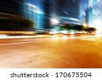 the light trails on the modern... | Shutterstock . vector #170675504