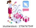 application for pay  discount... | Shutterstock .eps vector #1706767549