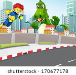 illustration of a superhero and ...
