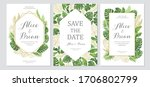 wedding invitation set. cards... | Shutterstock .eps vector #1706802799