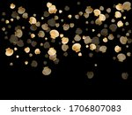 gold seashells vector  golden... | Shutterstock .eps vector #1706807083