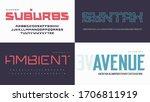 vector modern uppercase letter...   Shutterstock .eps vector #1706811919