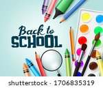 back to school vector banner... | Shutterstock .eps vector #1706835319