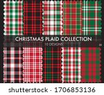 christmas plaid  tartan pattern ... | Shutterstock .eps vector #1706853136