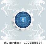 industry 4.0 concept  translate ... | Shutterstock .eps vector #1706855839