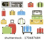 luggage icons. vector set for... | Shutterstock .eps vector #170687684