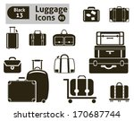 Luggage Icons. Vector Set For...