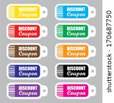 discount coupon stickers and... | Shutterstock .eps vector #170687750