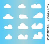 cloud collection set. white... | Shutterstock .eps vector #1706894749