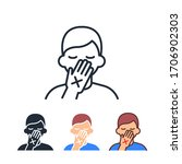 avoid touching your eyes  nose... | Shutterstock .eps vector #1706902303
