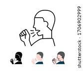 dry cough or phlegm cough. man... | Shutterstock .eps vector #1706902999