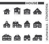 set of 12 house icons | Shutterstock .eps vector #1706905906