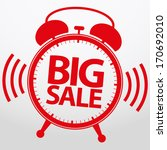 big sale alarm clock  vector... | Shutterstock .eps vector #170692010