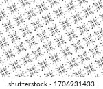 ornament with elements of black ... | Shutterstock . vector #1706931433