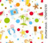 vector beach pattern for summer | Shutterstock .eps vector #170693150