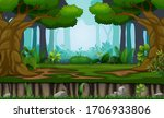 many trees on the forest... | Shutterstock .eps vector #1706933806