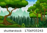 plant and trees on the nature...   Shutterstock .eps vector #1706935243