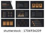 business presentation template... | Shutterstock .eps vector #1706936209