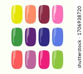 vector multi colored set of... | Shutterstock .eps vector #1706938720