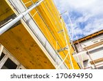 empty workplace on scaffolding... | Shutterstock . vector #170694950