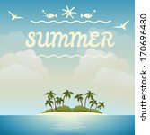 summer beach vector background... | Shutterstock .eps vector #170696480
