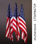 three star striped us flags on... | Shutterstock . vector #1706986729