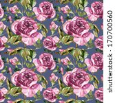 red rose seamless pattern | Shutterstock . vector #170700560