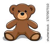 Vector Cartoon Brown Teddy Bear
