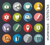 flat medical icons | Shutterstock .eps vector #170701766