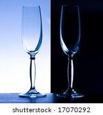 2 champagne glasses on black... | Shutterstock . vector #17070292
