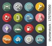 car service flat icon set | Shutterstock .eps vector #170703500