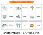 weather flash cards  ... | Shutterstock .eps vector #1707061246