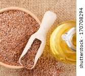 Mortar With Flax Seeds  And...