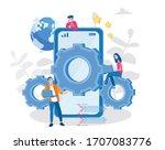 mobile development vector...