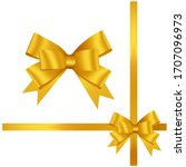 hand drawn decorative yellow... | Shutterstock .eps vector #1707096973