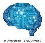vector artificial intelligence... | Shutterstock .eps vector #1707099853