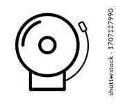 fire alarm icon  vector... | Shutterstock .eps vector #1707127990
