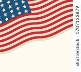 american flag patriotic... | Shutterstock . vector #1707133879