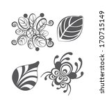 vintage floral design elements... | Shutterstock . vector #170715149