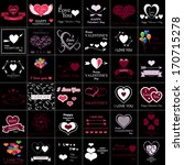 happy valentines day and... | Shutterstock .eps vector #170715278