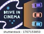 open air cinema concept....   Shutterstock .eps vector #1707153853