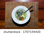Turtle Soup With Vegetable On...