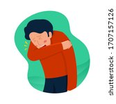 cough or sneeze with your elbow ... | Shutterstock .eps vector #1707157126