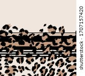 Seamless Leopard Pattern With...