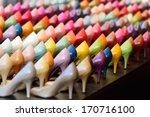 shoes in shop window display | Shutterstock . vector #170716100