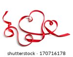 Red Ribbon That Forms A Pair O...