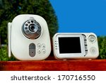 closeup baby monitor for... | Shutterstock . vector #170716550